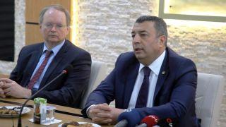 AB Türkiye Delegasyonu Başkanı Berger'den Ticaret Borsasına ziyaret