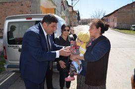 İYİ Partili Parlak, Cemal Gürsel Mahallesini ziyaret etti