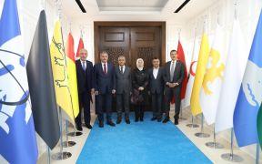AK Parti heyetinden Osman Güder'e ziyaret