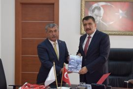 Akçadağ heyetinden Gürkan'a ziyaret