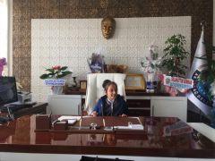 Başkan Kazgan, koltuğunu Melek Karadoğan'a devretti