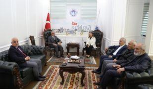 Rektör Karabulut'tan Başkan Güder'e ziyaret