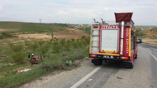 Şarampole uçan aracın sürücüsü yaralandı