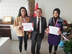 Başarılı sporculardan Başkan Kazgan'a ziyaret