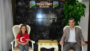 Başkan Çınar, Milli Takım Sporcusu Elif Naz Aktaş'ı ağırladı