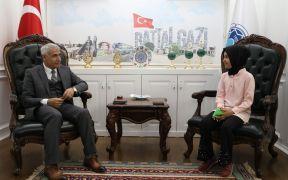 Başkan Güder, dönem ödevi için soruları yanıtladı