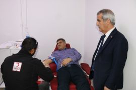 Başsavcısı Muhammet Savran'dan kan bağışı