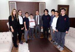 TED Kolejlilerden Rektör Kızılay'a ziyaret