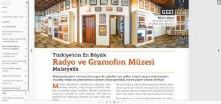 Türkiye'nin en büyük Radyo ve Gramofon Müzesi  BİK Dergisinde