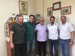 ASMYD'den Spor Bilimleri Fakültesi'nin ilk profesörü Gündoğdu'ya ziyaret