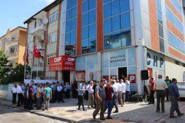 CHP'de bayramlaşma programı yeni binada yapıldı