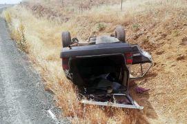 Malatya'da otomobil takla attı: 4 yaralı