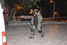 Malatya'da şüpheli valiz fünyeyle patlatıldı