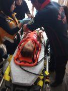 3. kattan havalandırma boşluğuna düşen çocuk yaralandı