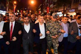 Malatya'da Milli Birlik ve Beraberlik yürüyüşü