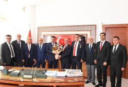 Gazi derneklerinden Başkan Gürkan'a Ziyaret