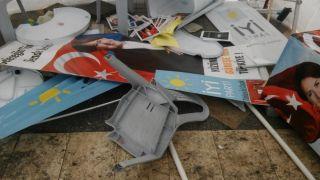 İYİ Parti standına saldıran şüpheli gözaltına alındı