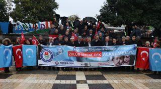 Malatya'da 'İnsanlık için ses ver' eylemi