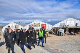 Başkan Gürkan, Yeni Kongre ve Fuar Merkezi inşaat alanını inceledi