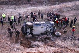 Cumhurbaşkanı Erdoğan'ın ziyareti öncesi polis zırhlı aracı kaza yaptı: 5 yaralı