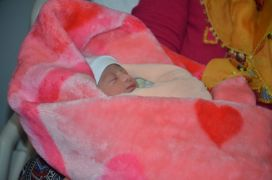 Malatya'da 2020'nin ilk bebeği Azra oldu