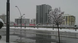 Malatya merkeze mevsimin 2'nci karı düştü