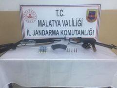 Silahlar ele geçirildi, 1 gözaltı