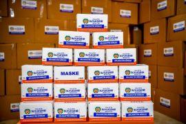Malatya'dan 3 belediyeye 130 bin maske gönderildi