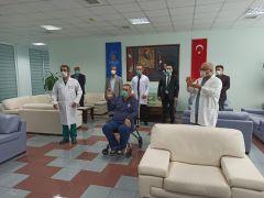 Türkiye'de plazma tedavisinin ilk uygulandığı korona hastası taburcu oldu