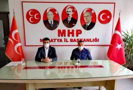 AK Parti il Başkanı Koca'dan MHP il Başkanı Samanlı'ya ziyaret