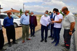 Başkan Çınar, yol çalışmalarını inceledi