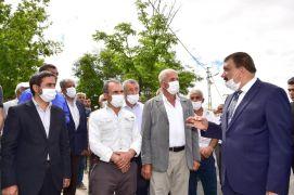 Başkan Gürkan'a Şahnahan'da çalışmaları inceledi