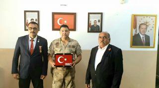 Şehit ve Gaziler Derneği'nden Jandarma'ya teşekkür ziyareti