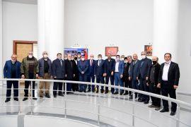 Hekimhan heyetinden Başkan Gürkan'a teşekkür ziyareti