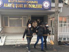 Malatya'da torbacı operasyonunda 3 tutuklama