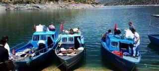 Malatya'da avlanma yapan teknelere sıkı denetim