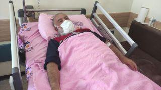 Yüksekten düşerek yaralanan hastanın imdadına hava ambulansı yetişti