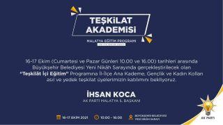 """AK Parti Malatya'da """"Teşkilât İçi Eğitim"""""""